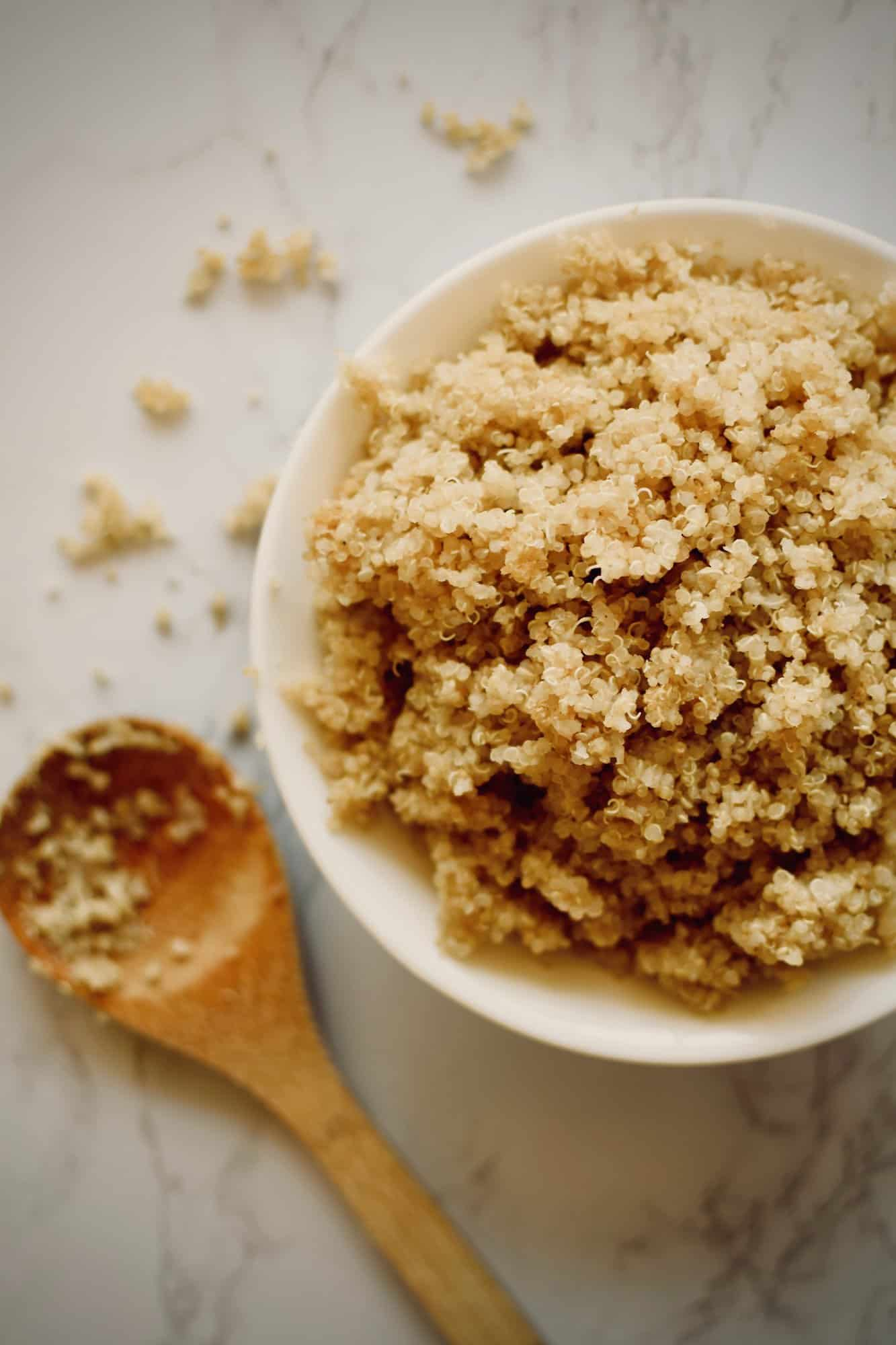 Perfect Cooked Quinoa on the stove. theincrediblebulks.com